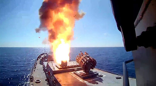 Syria: Russian Sub Fires Cruise Missiles at Terrorists