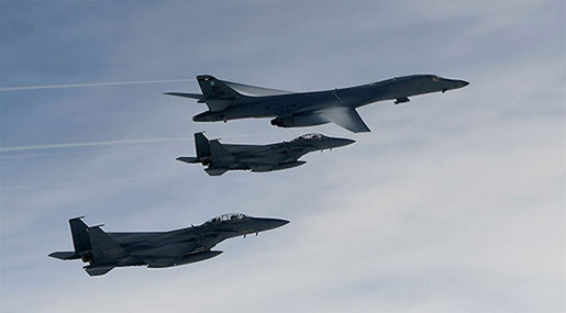 After US Bomber Flyby, N Korean Jets Are Ready for Combat
