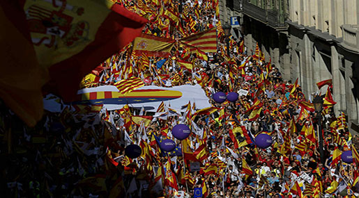 Catalan Referendum: Scores Rally in Barcelona against Independence