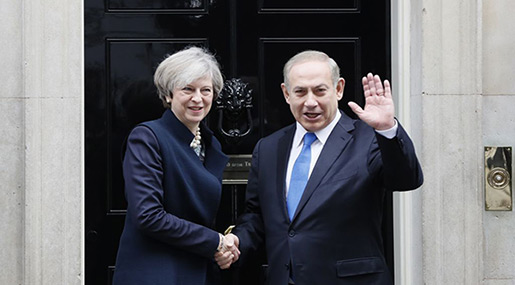 Bibi in UK to Celebrate Balfour100: Protests Expected