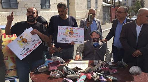 Palestinians Protest Balfour Declaration on Centenary