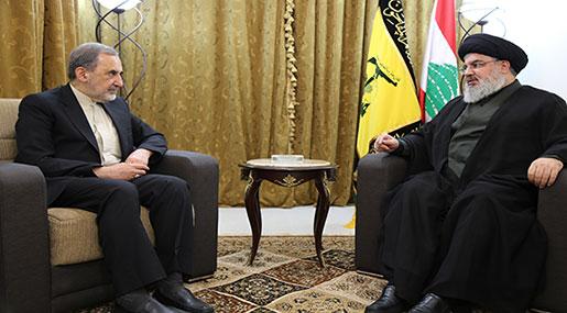 Sayyed Nasrallah Receives Advisor of Imam Khamenei, Iranian Delegation