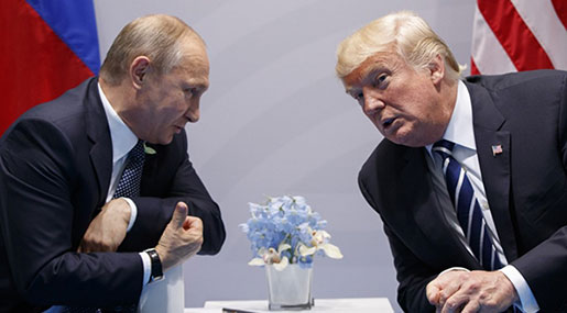 Trump, Putin: No Military Solution for Syria, Channels Maintained to Prevent Danger, Incidents