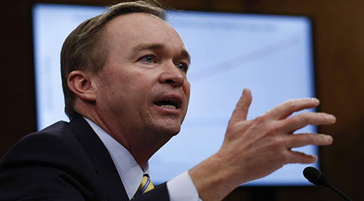 Trump Appoints Mick Mulvaney Head of Financial Watchdog