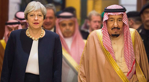 UK's May in Saudi Arabia after Iraq Stop