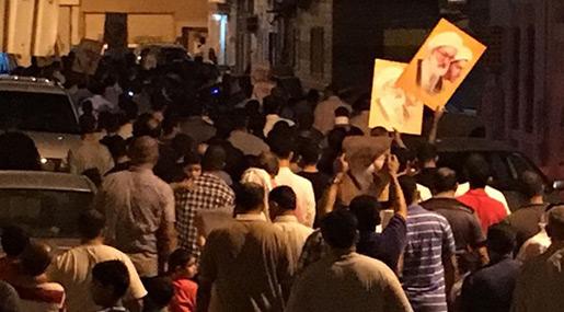 Bahrainis Protest Regime's Denial to Provide Treatment for Sheikh Qassim