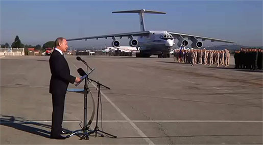 Putin Visits Syria, Orders Withdrawal of Russian Troops