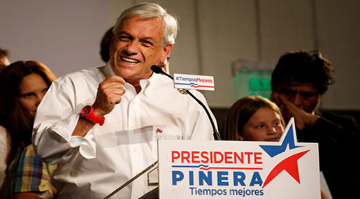 Chile: Conservative Pinera Wins Runoff Election
