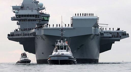 UK's Brand New £3.1bn Aircraft Carrier Has Sprung A Leak