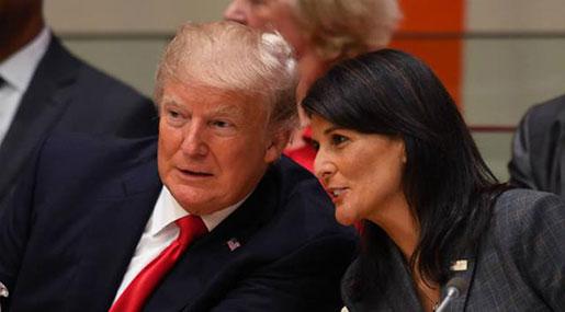 Haley Announces $285m cut To UN Following Its Vote against Trump's Al-Quds Move