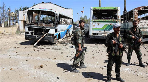 Syrian Urges Surrender of Militants Encircled Near Lebanon Border