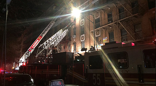 New York Fire: At Least 15 Hurt, 2 Reported Dead