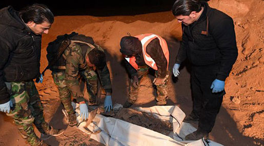 Daesh Atrocities: Two Mass Graves Found in Raqqa