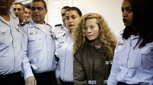 'Israel' Seeking 12 Charges against Palestinian Teen Activist Ahed Tamimi