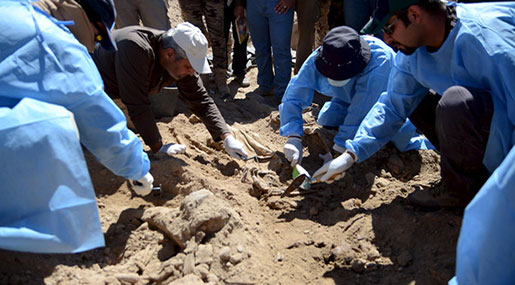 Iraq: New Mass Grave, 20 Tortured Bodies, Unearthed Near Mosul