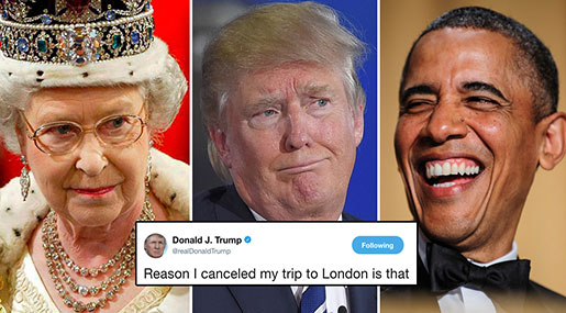 Upset Trump about London New Embassy's Location, Price Tag Cancels Opening Trip!