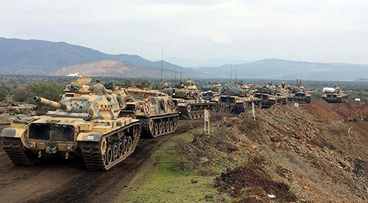Syria: Turkish Troops Enter Afrin after Days of Airstrikes