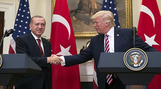 Trump Warns Erdogan to Limit Offensive on US Forces in Syria