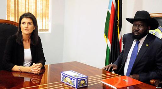US Envoy to UN Calls South Sudan Gov't «Unfit Partner»