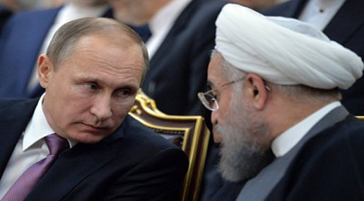 Rouhani, Putin Slam Unauthorized Foreign Military Presence in Syria