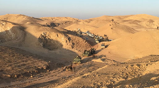 Iraqi Forces Attack Daesh Remnants in Desert Region