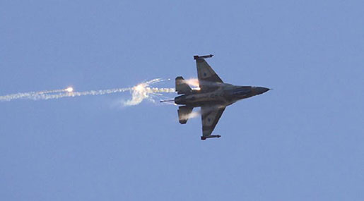 'Israeli' Warplanes Strike Syria Military Position Near Capital