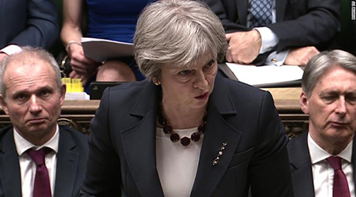 Russian Spy Incident: UK's May Expels 23 Diplomats