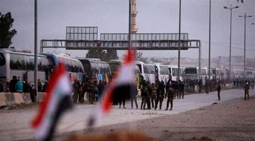 Syria State Media: Biggest Convoy Yet Leaves Ghouta