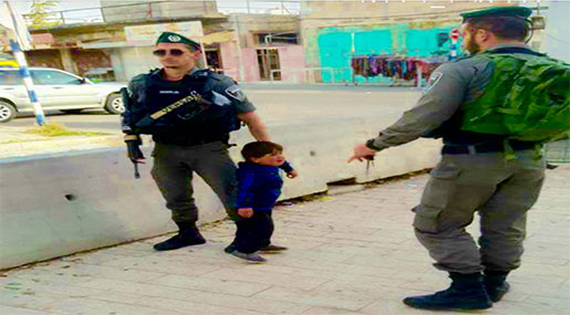 'Israeli' Police Detain 3Yo Palestinian in Al-Khalil for Allegedly 'Throwing Stones'!