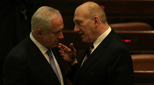Ehud Olmert Urges Bibi To Step Down, Preserve Dignity Of Office