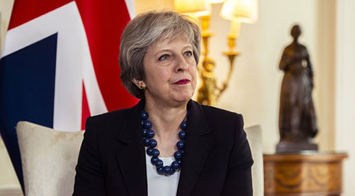 UK's May Calls Urgent Cabinet Meeting over Response to Escalating Syria Crisis