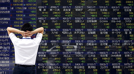 After Tripartite Syria Strike, Asia Stocks Mostly Down