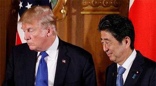 Trump, Abe Seek Consensus on North Korea amid Strains