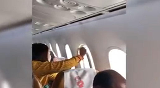Air India Plane's Window Panel Falls Off Amid Turbulence