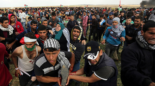 Great Return March: 31 Hurt as Palestinians March on Border for 5th Week