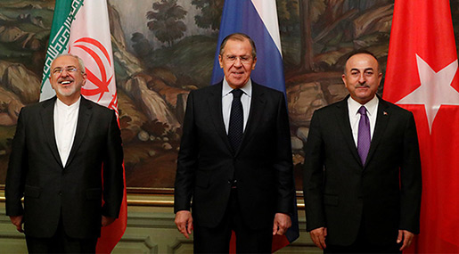 Syria Conflict: Russia, Iran & Turkey Hold Joint Press Conference in Moscow