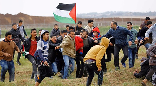 Great Return March: Palestinian Teen Martyred After Being Wounded by «Israeli» Fire on Gaza Border