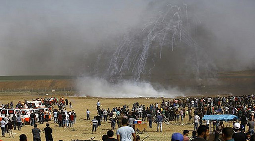 Great Return March: 1 Palestinian Martyred, 170 Injured in Gaza