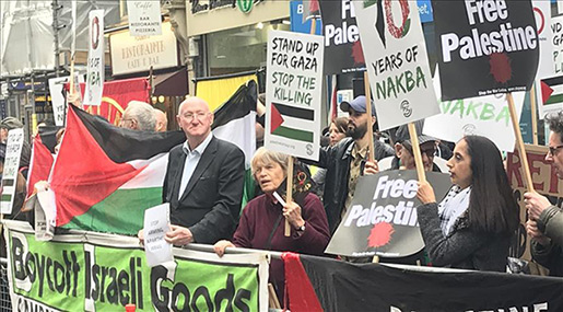 In Solidarity with Palestine: Londoners Rally on 70th Nakba Anniversary