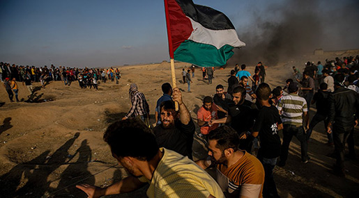 Great Return March: 28 Palestinians Martyred, 1693 Injured in Gaza Protests