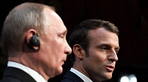 Macron, Putin to Discuss Iran Nuclear Deal, Syria