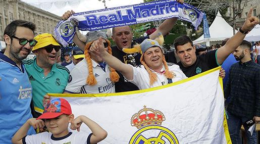 Champs League Final: Madrid, Liverpool Fans Gather in Kiev