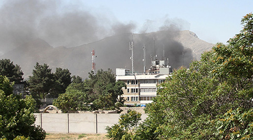 Blast, Gunfire Heard Near Afghan Interior Ministry in Kabul