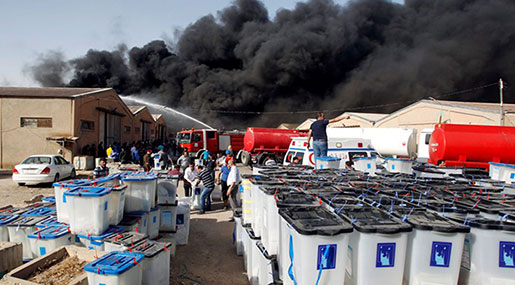 Iraq: Ballot Warehouse Hit by Blaze as Country Prepares for Recount