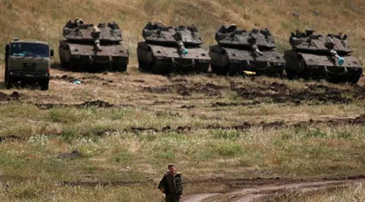 'Israeli' Army Launches Surprise Drill near Syria Border