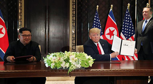 Trump, Kim Sign 'Comprehensive' Document after Historic Summit