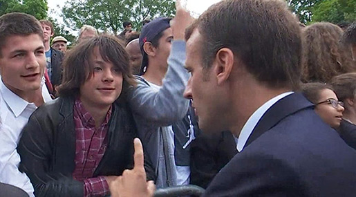 French President Teaches Teen Manners After Boy Addresses Him as «Manu»