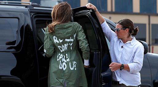 Melania's Jacket Sparks Fresh Outrage amid Immigration Row