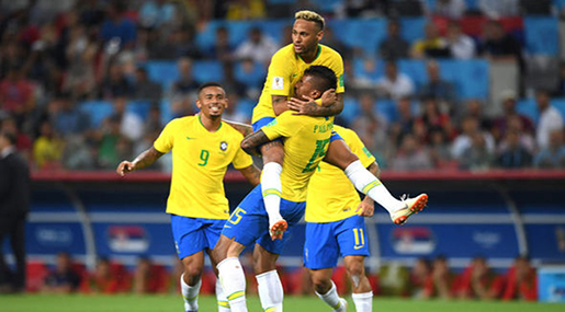 World Cup 2018: Brazil Eases into Second-Round after 2-0 Win over Serbia