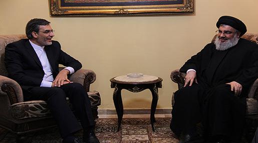 Sayyed Hassan Nasrallah and Iranian Deputy FM Hossein Jaberi Ansari